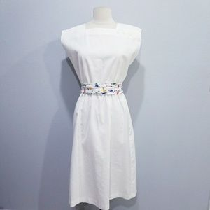 Vintage 80's retro scribble scrabble print dress